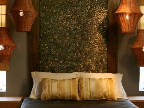 استفاده از متریال بتن در ایجاد بافت و تزیین دیوار اتاق خواب