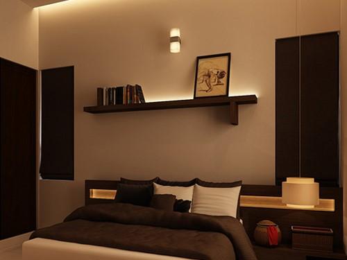 استفاده از قفسه ها برای تزیین دیوار های اتاق