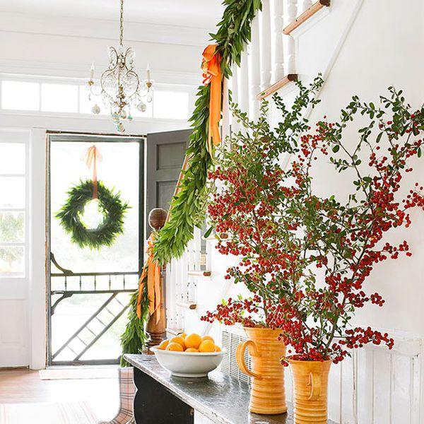 تزیین راه پله با گلدان