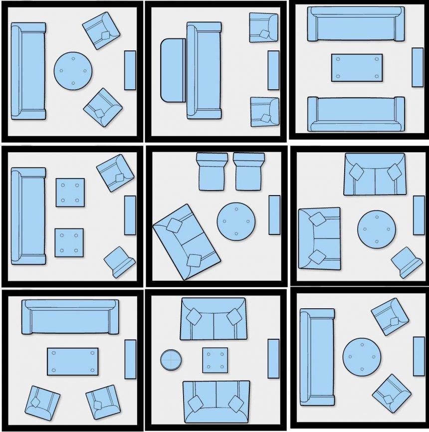 چیدمان منزل مربع شکل