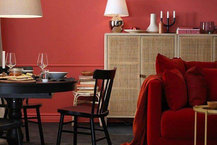دکوراسیون منزل با مبل قرمز