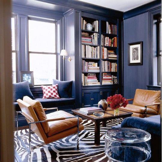 دکوراسیون آبی و قهوه ای