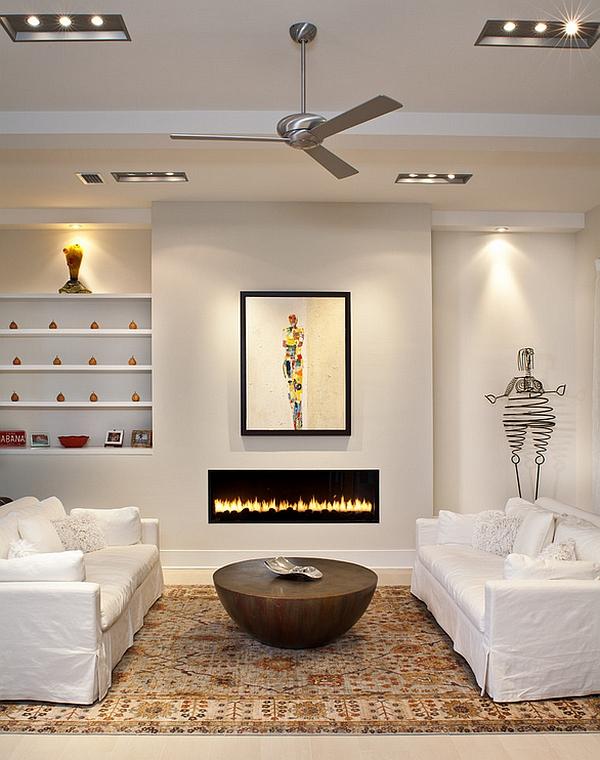 اتاق نشیمن به سبک مینیمال