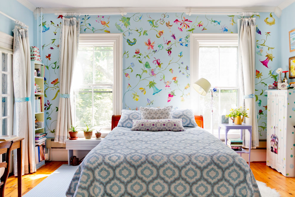 ترکیب کاغذ دیواری و رنگ