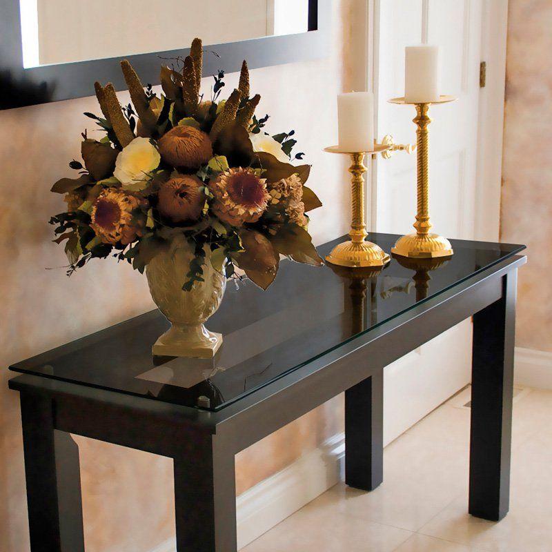 تزیین میز کنسول با گل