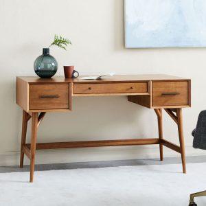 میز تحریر چوبی Mid-Century