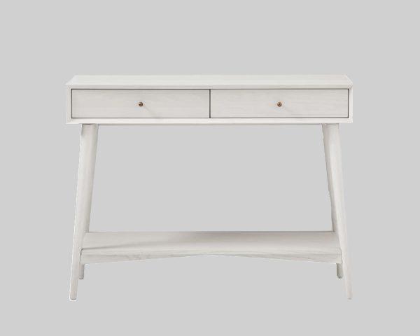 میز کنسول سفید Acorn