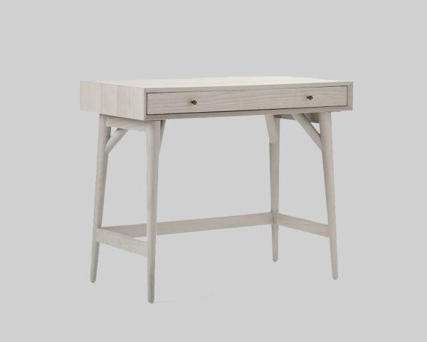 میز تحریر سفید ساده Mid-Century