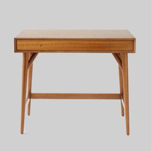 میز تحریر چوبی کوچک Mid-Century