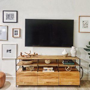 میز تلویزیون بزرگ چوبی Industrial