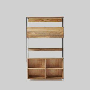 قفسه چوبی برای دکور مدل Industrial
