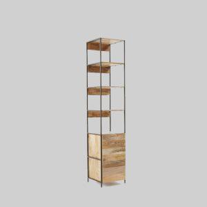 قفسه چوبی ساده Industrial