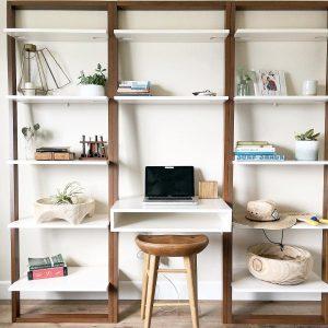 میز تحریر و کتابخانه دیواری Ladder