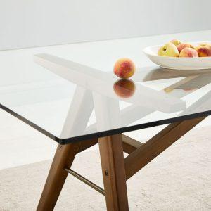 میز ناهارخوری شیشه ای Jensen