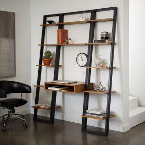 ست میز تحریر و کتابخانه Ladder