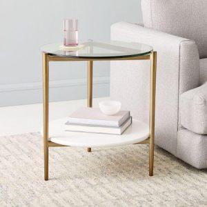 میز کنار مبلی سفید Art Display
