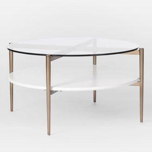 میز جلو مبلی گرد سفید Art Display