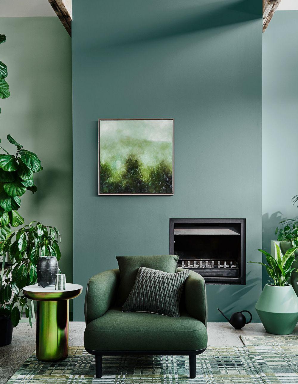 مکمل رنگ سبز در دکوراسیون
