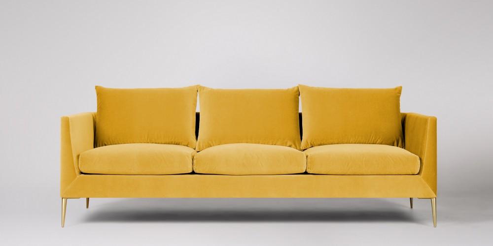 مبلمان راحتی زرد رنگ