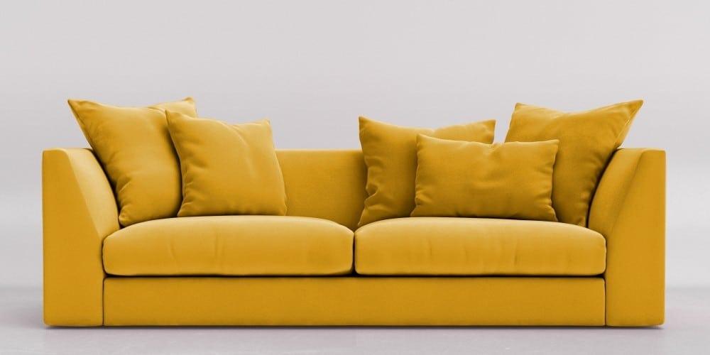 مبل به رنگ زرد