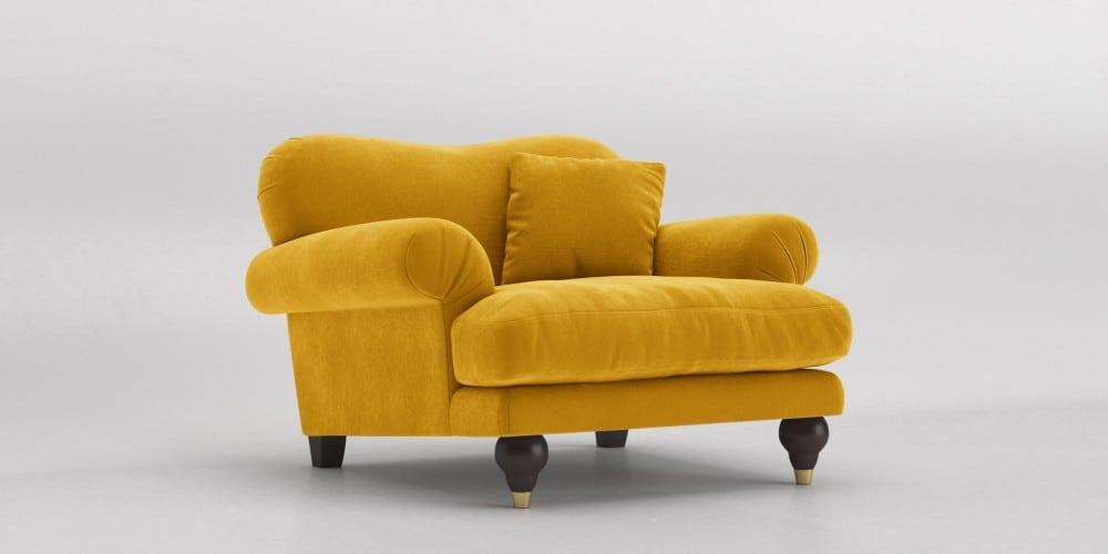 مبل راحتی زرد رنگ