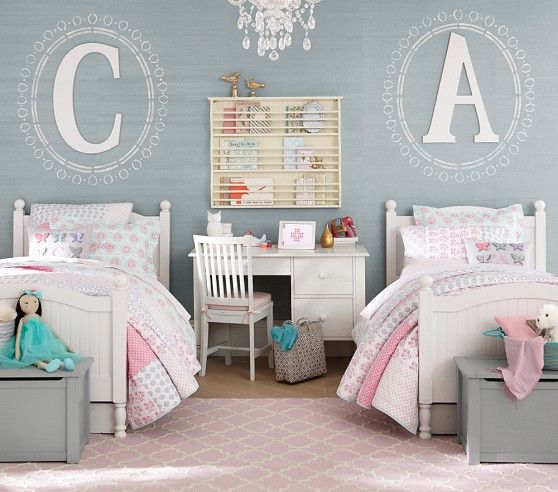 اتاق خواب دخترانه دو نفره ساده