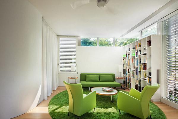 دکوراسیون داخلی با مبل سبز