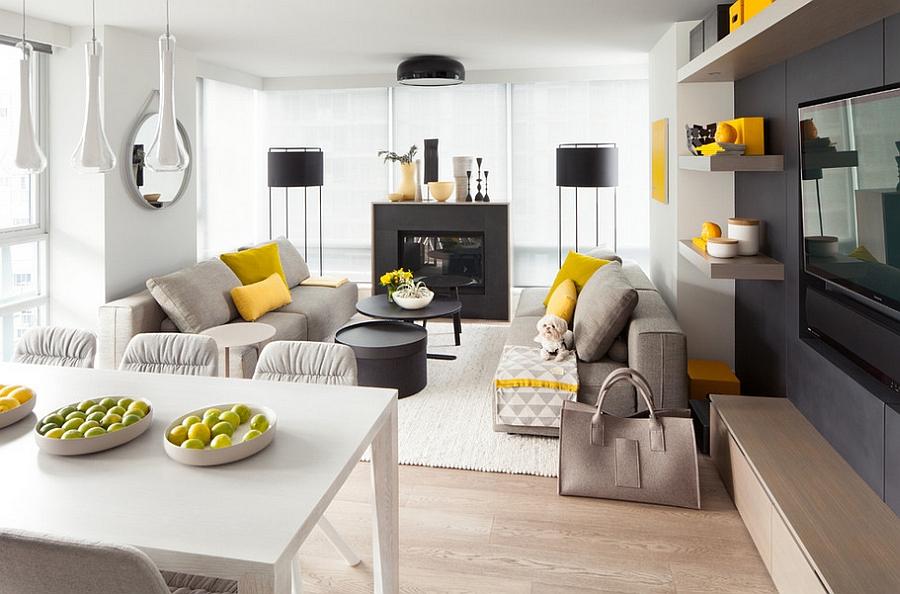 دکوراسیون با رنگهای زرد و سفید