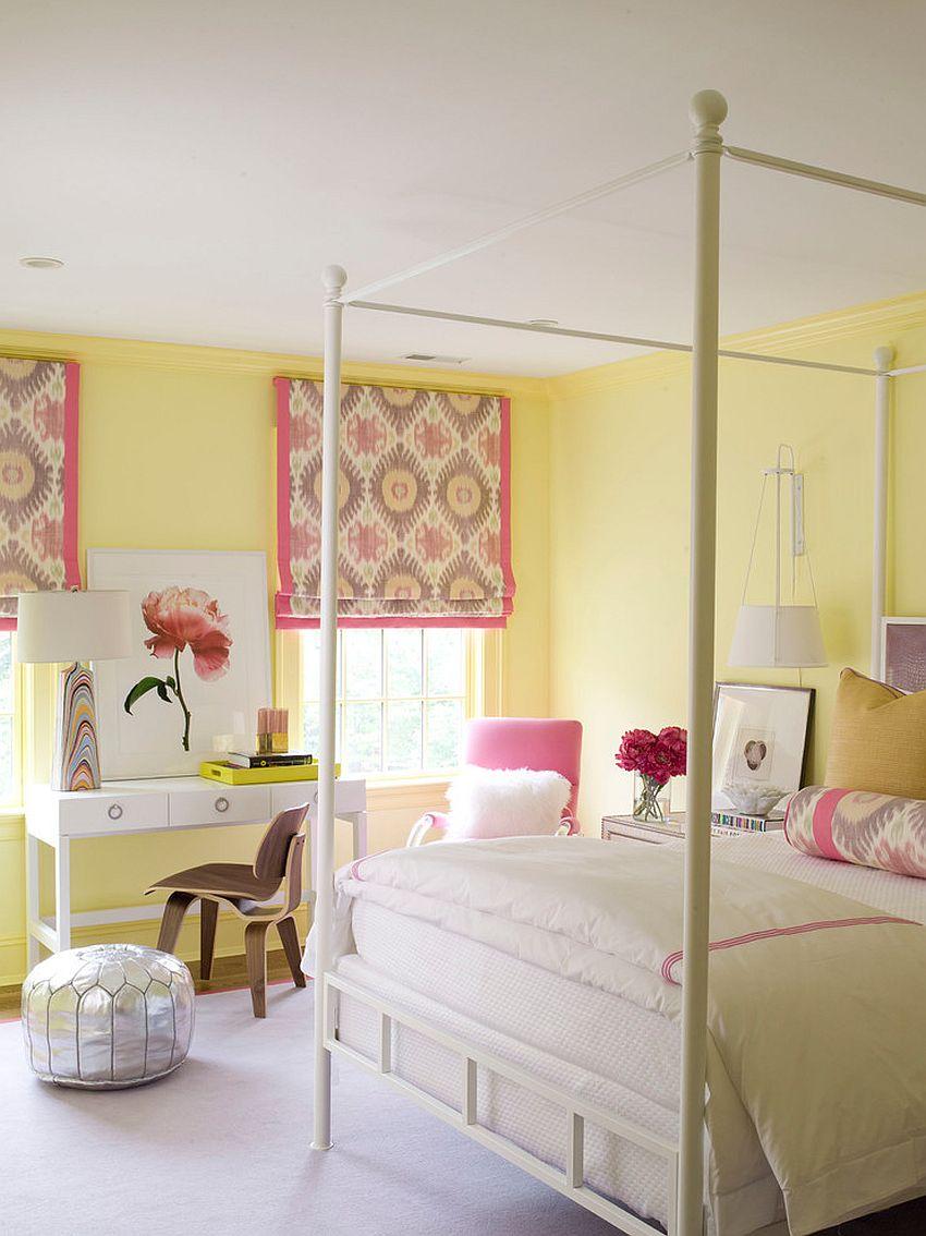 دکوراسیون خانه با سفید و زرد