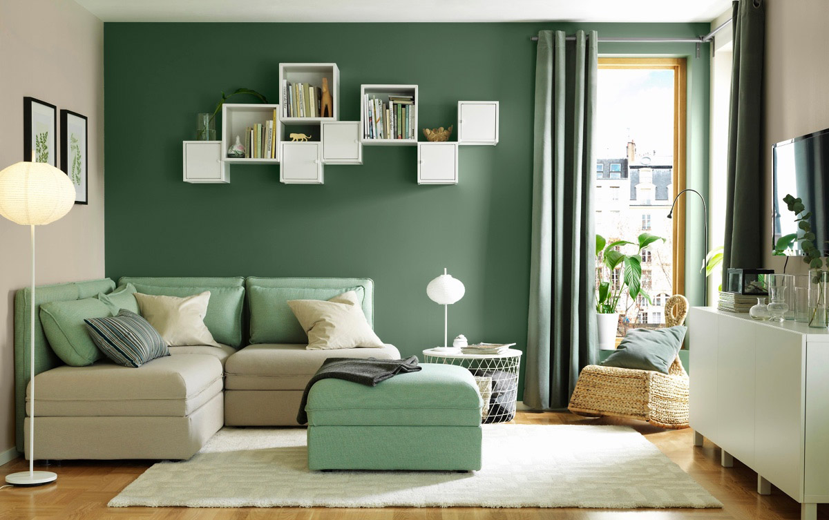 دکوراسیون خانه با مبل سبز