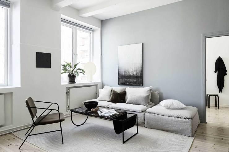 ترکیب رنگ طوسی در منزل