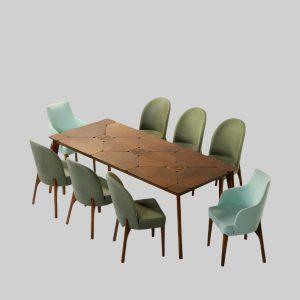 میز ناهارخوری 8 نفره PUZZLE