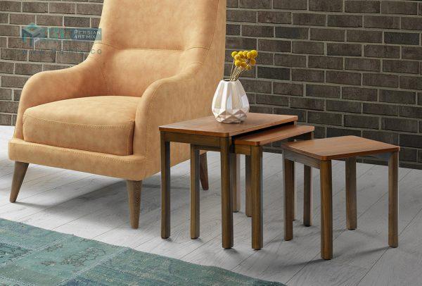 میز عسلی سه پارچه WALNUT