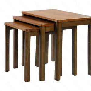 میز عسلی سه پارچه WALNUT : میز عسلی سه پارچه