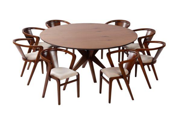 ست ناهارخوری ارغوان با میز و صندلی ناهارخوری