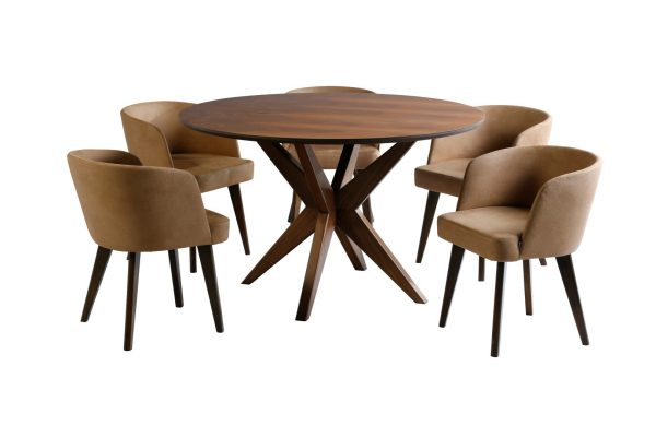 ست ناهارخوری نخل با میز و صندلی ناهارخوری